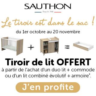 Sauthon tiroir lit offert