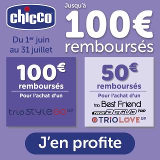 Chicco 100€ remboursés sur pack trio