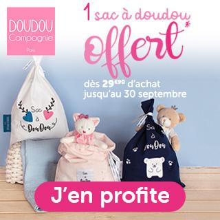 Doudou et compagnie: 1 sac à doudou offert dès 29.90€ d'achat