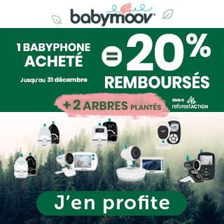 ODR Babymoov: 20% remboursés+ 2 arbres plantés pour l'achat d'un babyphone