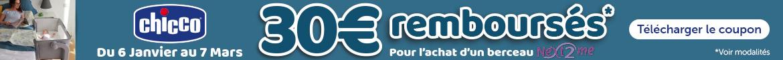 Chicco ODR: 30€ remboursés pour l'achat d'un berceau cododo Next2Me