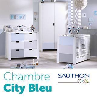 Chambre Sauthon Easy City Bleu