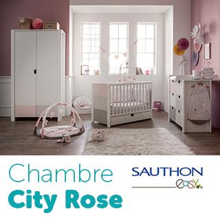 Chambre Sauthon City Rose