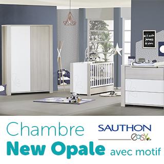 Chambre Sauthon Easy New opale avec motif