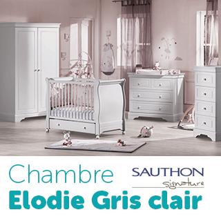 Chambre Sauthon Signature Elodie gris clair