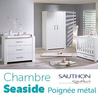 Chambre Sauthon Signature Seaside poignée métal