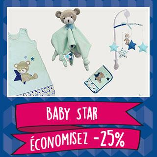 Thème de lit Domiva Baby Star