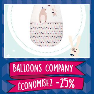 Thème de lit Balloon Compagny