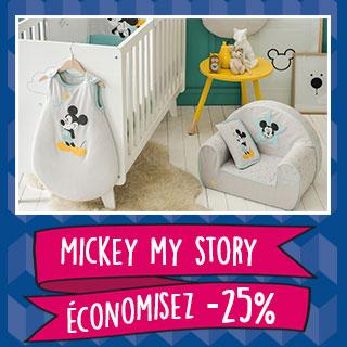 Thème de lit Disney Baby Mickey my story
