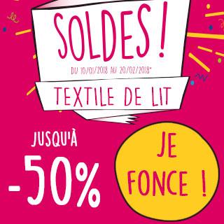 Soldes textile de lit