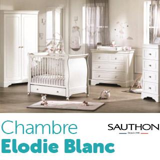 Chambre Sauthon Signature Elodie Blanc