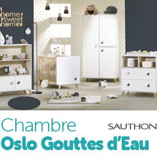 Chambre Sauthon Easy Oslo Gouttes d'eau