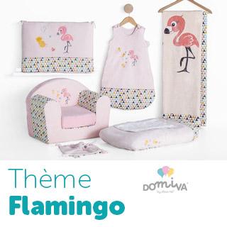 Thème de lit Domiva Flamingo
