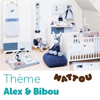 Thème de lit  Alex & Bibou de Nattou