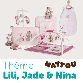 Thème de lit Nattou Lili Jade Nina