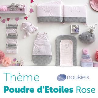 Thème de lit Noukie's Poudre d'étoiles Rose