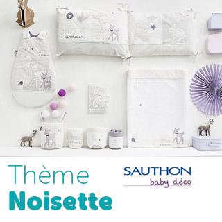 Thème de lit Sauthon Baby Déco Noisette