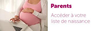 Accès Parents liste de naissance