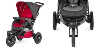 Poussette 3 roues autour de bébé