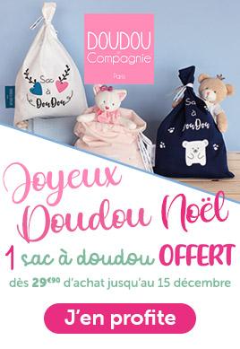 Joyeux doudou Noel - 1 sac à doudou offert dès 29,90€ d'achat